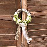 Dekorácie - Venček na dvere s tulipánmi - 10791775_