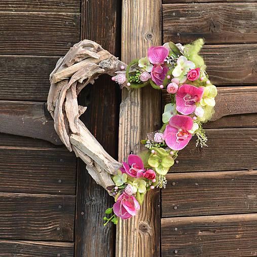 bc6bc82bb Drevené srdce s orchideou / Hydrangea - SAShE.sk - Handmade Dekorácie