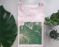 Tričká - Voľné dámske tričko_Monstera - 10791799_