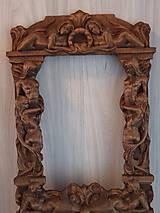 Rámiky - Drevorezba Rám na zrkadlo VÁŠEŇ - 10791590_