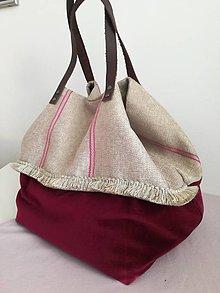 Veľké tašky - Zamatová taška - 10791567_