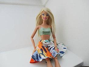 Sukne - Mini sukňa pre Barbie - kruhová (Pestrofarebná) - 10791280_