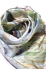Šatky - hodvábna šatka NA LÚKE 2 (90x90cm) - 10789442_