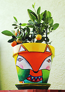Nádoby - Kvetináč - Líška (veľký) - 10791385_