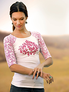 Tričká - Tričko Pink Bird - Skladom S, M, L - 10789416_
