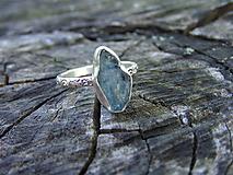 Prstene - Strieborny prsteň Ag925 Akvamarín - 10789881_