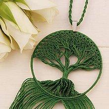Náhrdelníky - Macramé prívesok (zelený) - 10791061_