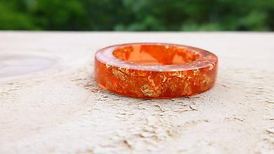Prstene - Živicový prsteň - 10790576_