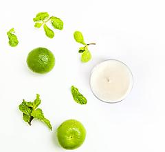 Svietidlá a sviečky - Sviečka - Limetka, bazalka a mandarínka - 10789321_