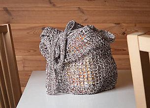 Nákupné tašky - Sieťovka háčkovaná - strakatá - 10789337_