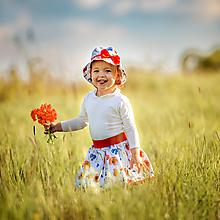 Detské súpravy - Klobúčik + sukienka Vlčie maky - 10789466_
