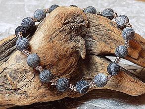 Náramky - Náramok ....achát indigový praskaný 2 - 10790823_