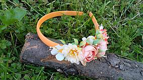Ozdoby do vlasov - Kvetinova celenka - marhulova - 10789421_