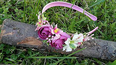 Ozdoby do vlasov - Kvetinova vintage celenka - 10789419_