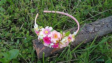 Ozdoby do vlasov - Kvetinova celenka - farebna II - 10789640_