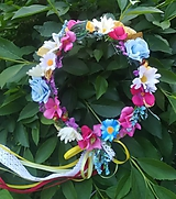 Ozdoby do vlasov - Venček letný kvet - 10789614_