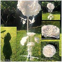 Dekorácie - Biely kvet výška cca 160cm - 10789297_