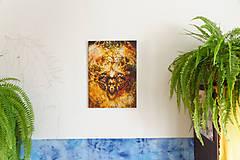 Obrazy - obraz mystického barana so stromom života. - 10789489_