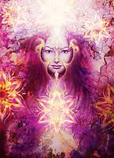 Obrazy - Obraz mystickej bytosti s ornamentálnym pozadím - 10789550_