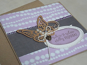 Papiernictvo - ...pohľadnica s motýľom... - 10789780_