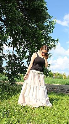 Sukne - Maxi-smotanová.... - 10791926_