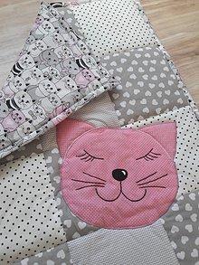 """Úžitkový textil - Detská patchwork dečka """"Mačička"""" - 10789510_"""