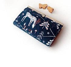 Peňaženky - Peňaženka s priehradkami Modrý les 19 cm - 10790480_