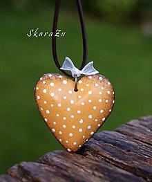 Náhrdelníky - Little Heart dots /3D - 10791576_