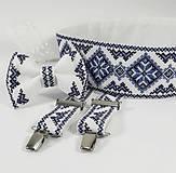 Opasky - Luxusný folk vyšívaný svadobný set I - 10790803_