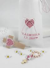 Drobnosti - Darčekový set ku krstu/narodeniu -  pre dievčatko - 10790957_