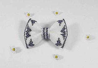 Doplnky - Pánsky motýlik I folk vyšívaný - 10790554_
