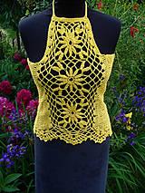 Topy - Sunny, háčkované tričko - 10789212_