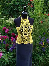 Topy - Sunny, háčkované tričko - 10789213_