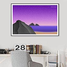 Grafika - Grafika Deň a noc (plaž večer) - 10790000_