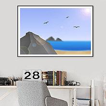 Grafika - Grafika Deň a noc (pobrežie cez deň) - 10790001_