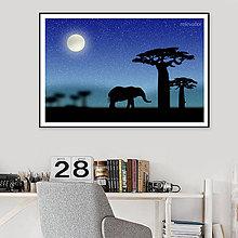 Grafika - Grafika Deň a noc (safari v noci) - 10790003_