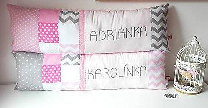 Textil - Podlh.vankúš s menom 23x80cm - 10793474_
