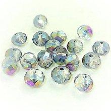 Korálky - Brusene sklenena Rondelka  4mm  (Pestrofarebná) - 10792500_