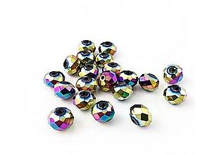Korálky - Brusene sklenena Rondelka  4mm  (Pestrofarebná) - 10792567_