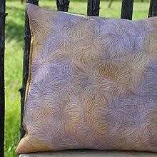 Úžitkový textil - Polštář v hnědých tónech II - 10792384_