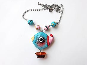 Náhrdelníky - Vtáča letné - náhrdelník. - 10793120_