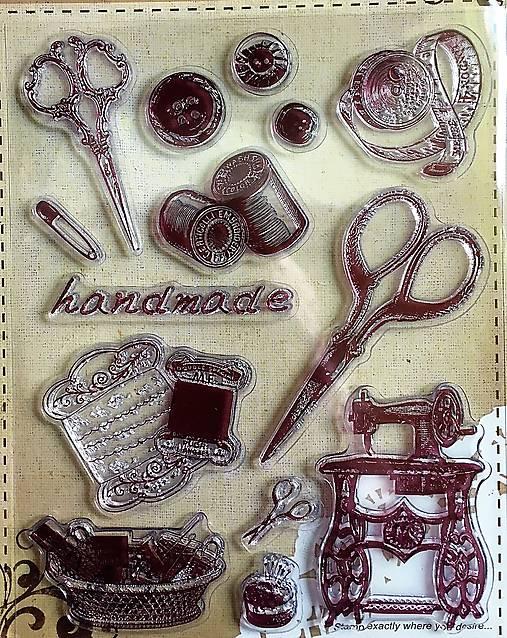 Silikónové pečiatky - hand made, šitie