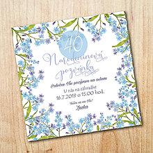 Papiernictvo - Narodeninová pozvánka - Nezábudky - 10792667_