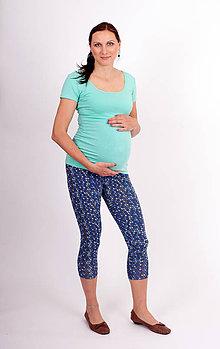 Tehotenské/Na dojčenie - Tehotenské 3/4 legíny - MODRÉ ZRNO - 10792043_