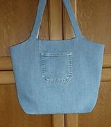 Kabelky - Ríflová taška bledomodrá - 10793778_
