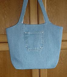 Kabelky - Ríflová taška (bledomodrá) - 10793778_