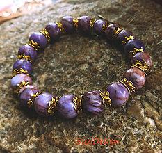 Náramky - náramok kamienky v zlate - 10792496_