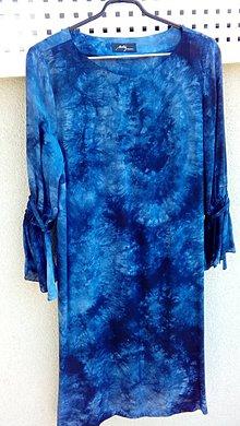 Šaty - Saty modra batika - 10792481_