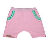 Detské oblečenie - Detské kraťasy pastel summer mint pink - 10794276_