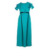 Šaty na dojčenie - aqua s volánom dlhé